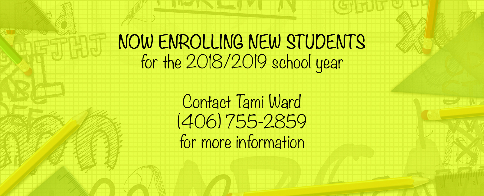 Now enrolling new students
